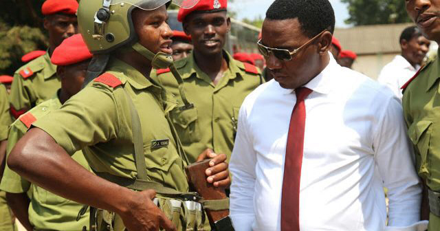 Image of Paul Makonda and the Tanzanian army. Makonda called for the crackdown which has seen many arrested and forced to undergo anal examinations.