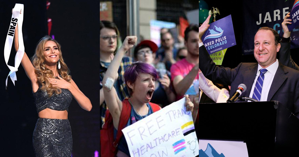 2018: year of LGBT firsts - Trans Miss Spain, Trans Pride Dublin, Jared Polis