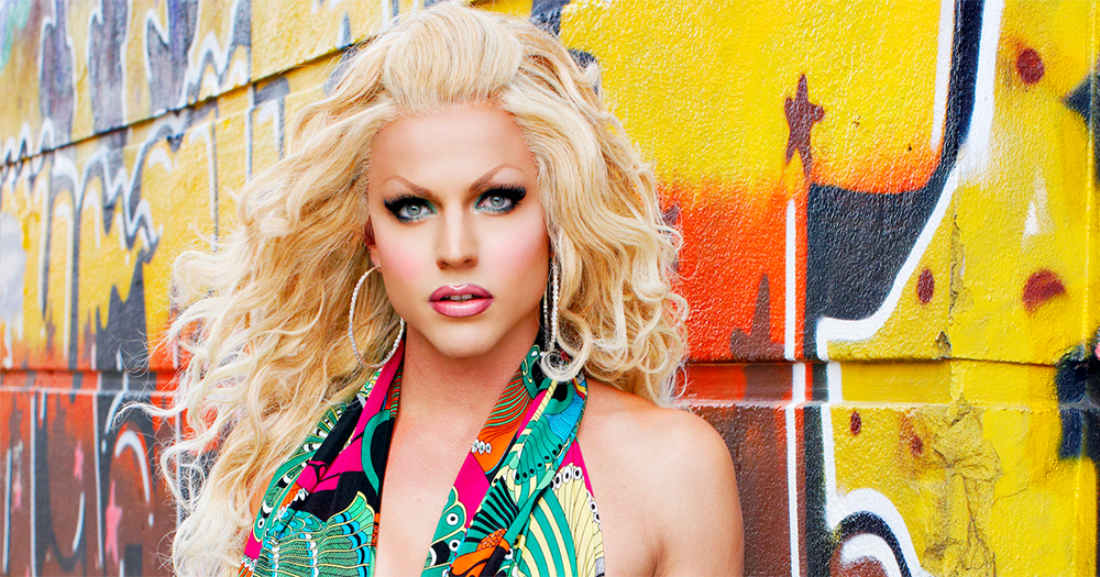 Drag queen Courtney Act hoping to appear in 2019's controversial Eurovision poses against a graffiti covered wall