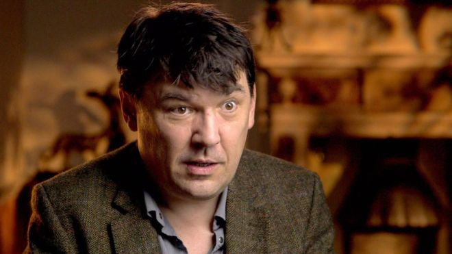 Father Ted writer Graham Linehan during an interview