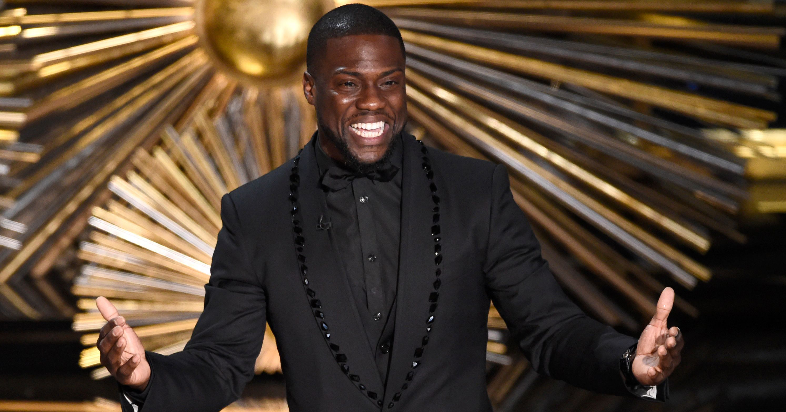 Kevin Hart's appearance at last years Oscar ceremony dressed in a tuxedo