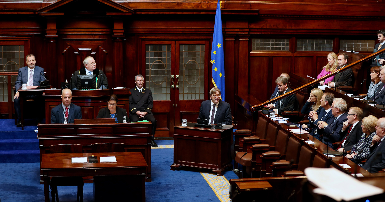 Dáil Éireann in Leinster House mid debate