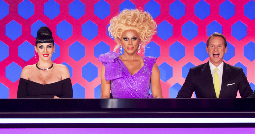 Michelle Visage, RuPaul and Carson Kressley on the panel. Drag Race UK will air next year.