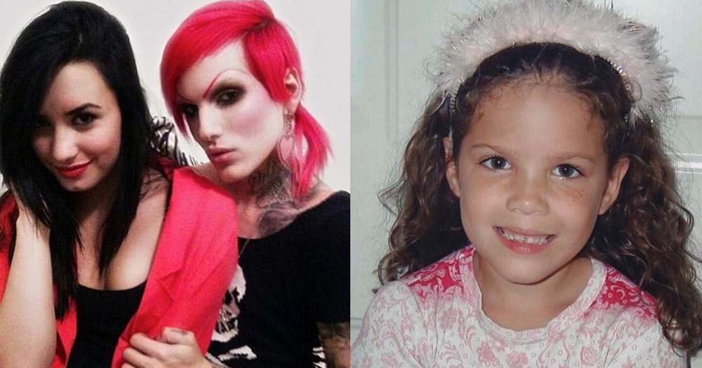 Demi Lovato, Jeffree Star and Halsey sharing their 10 year challenge throwbacks