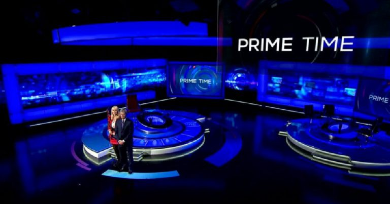 RTÉ And The Promotion of the Language of Oppression - Prime Time presenters pictured on set