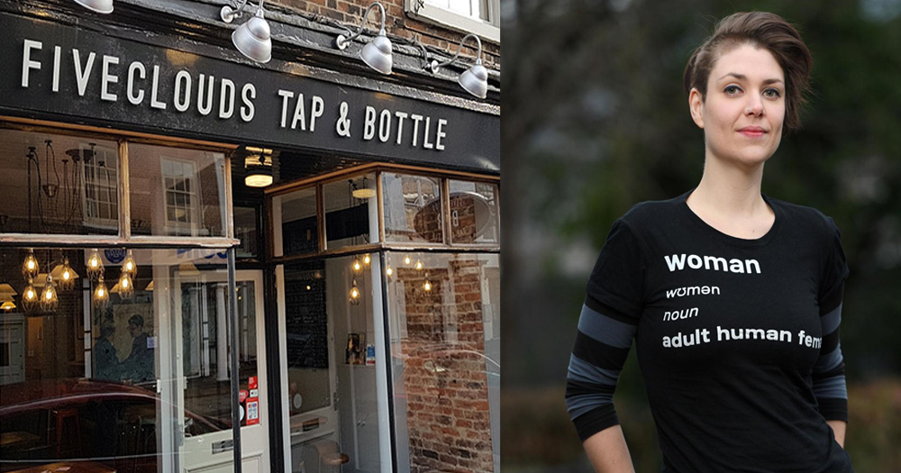 Pub and TERF that was barred from pub for wearing a t-shirt that was transphobic