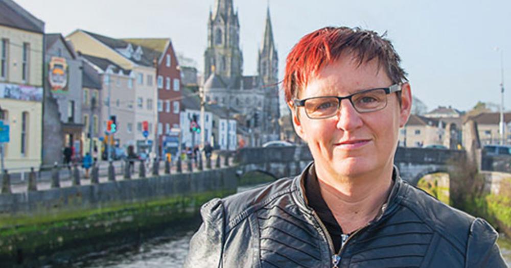 Orla Egan standing in front of a river in Cork Source: Orla Egan, Cork LGBT Archive