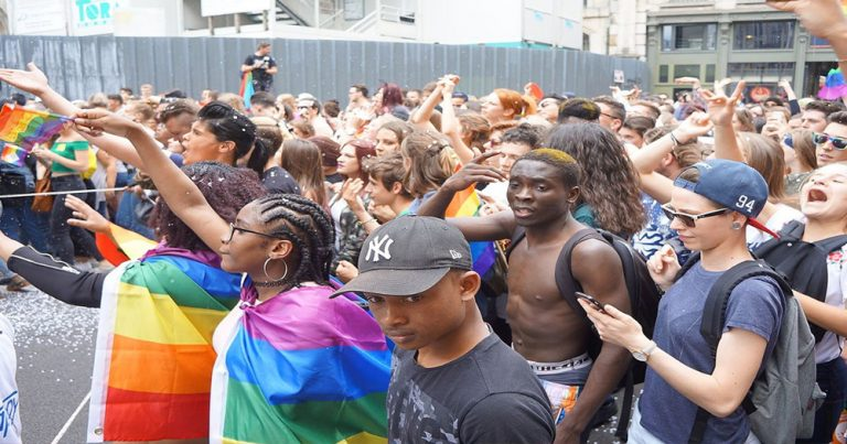 African people having an LGBT protest in Kenya