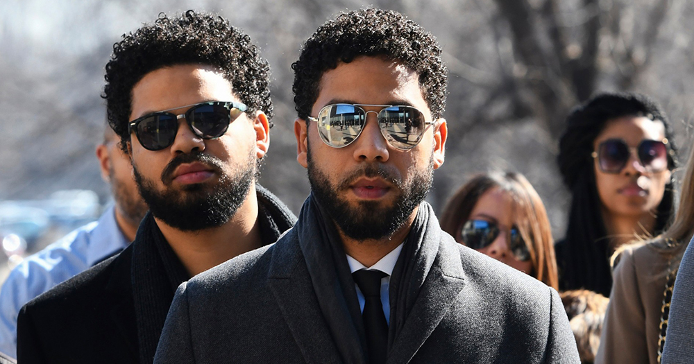 Jussie Smollett leaving court