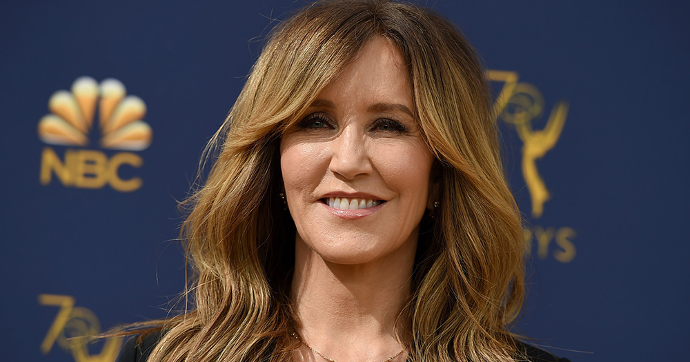 A close up of actress Felicity Huffman at the launch of a TV show
