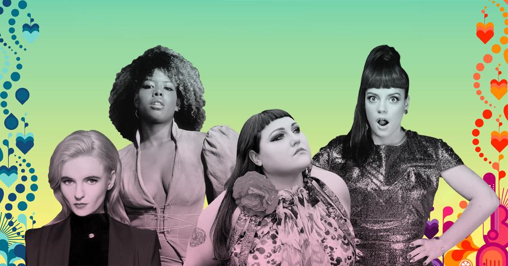 A promo image for Love Sensation festival featuring four female singers