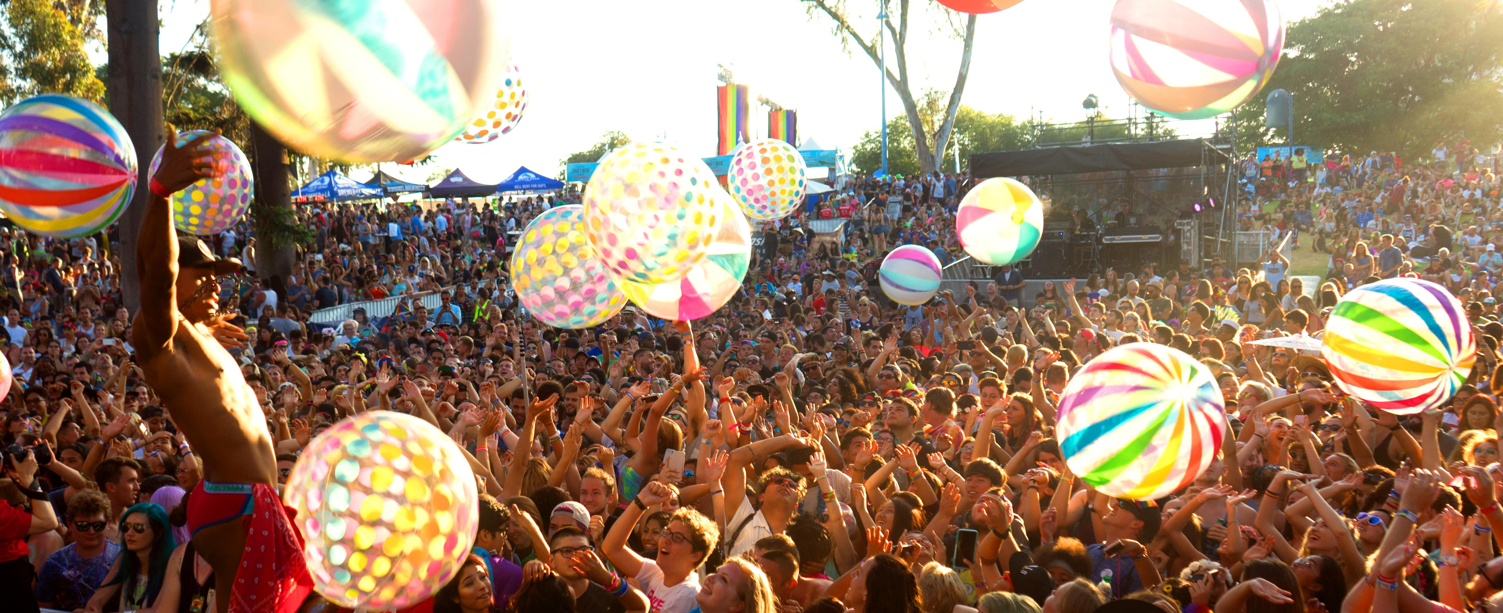 A crowd at a music festival. Love Sensation is the new queer festival coming up this summer