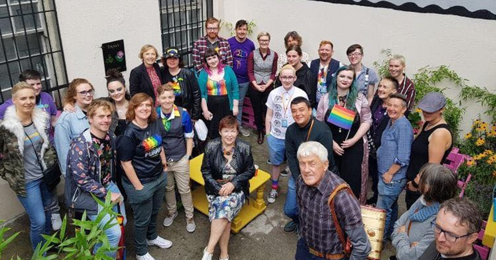 Volunteers working to save Teach Solais LGBT+ resource centre