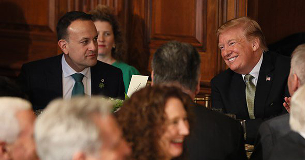 Varadkar meets with President Trump, offering praise for the Trump presidency