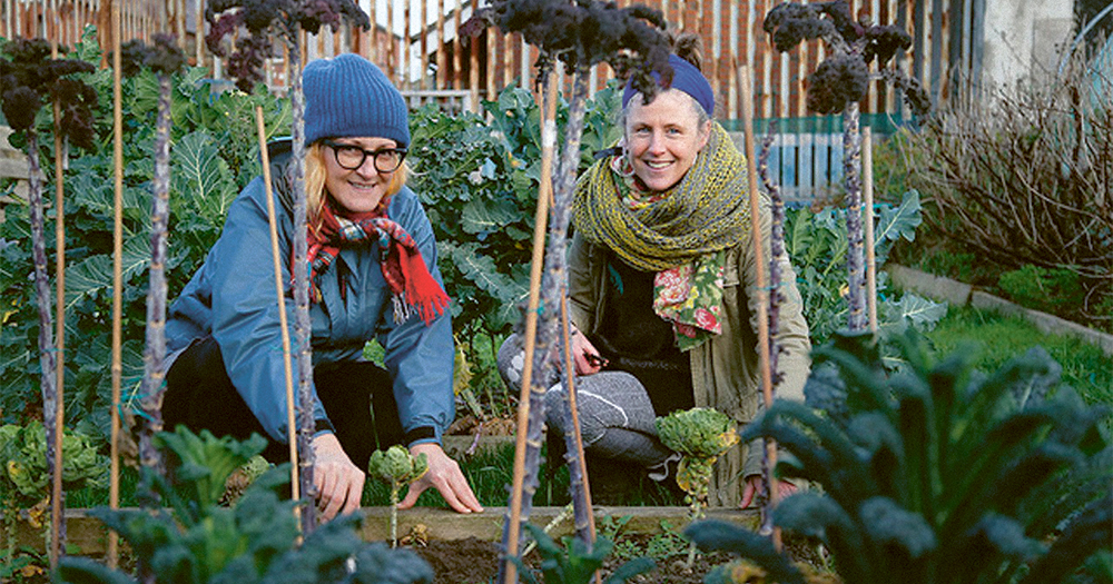'Save Weaver Square' organisers smiling during their interview about home planting
