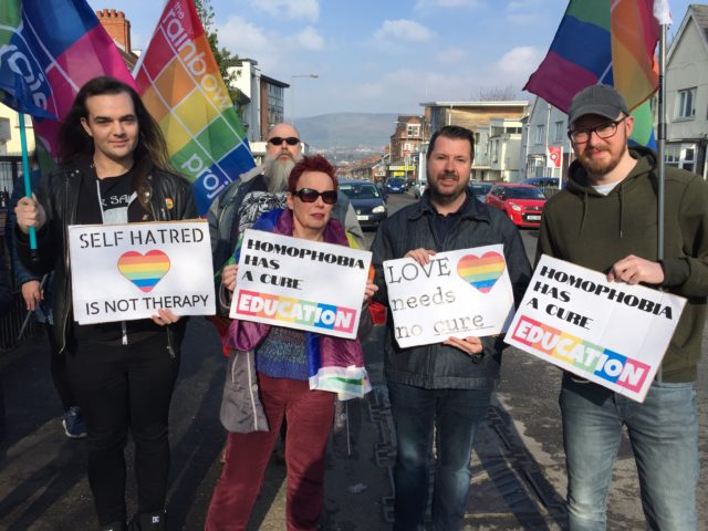 LGBT rights protest in Belfast