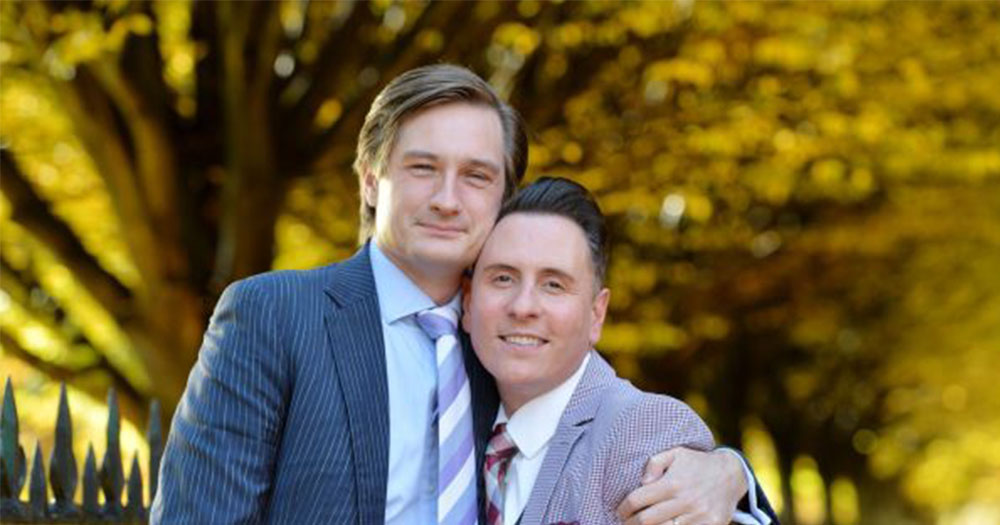 cso First same-sex couple to be married in Ireland pictured together smiling at the camera