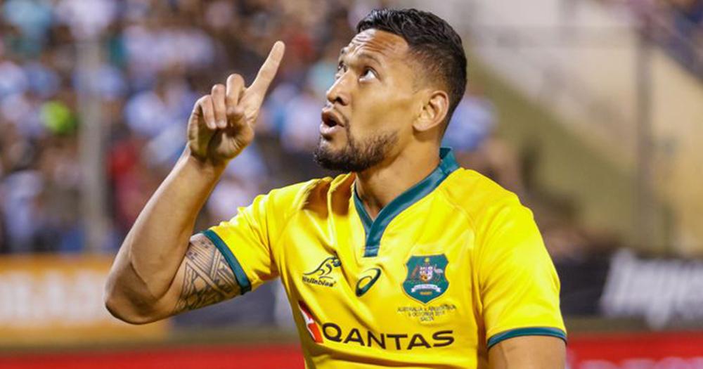 Rugby Australia player Israel Folau