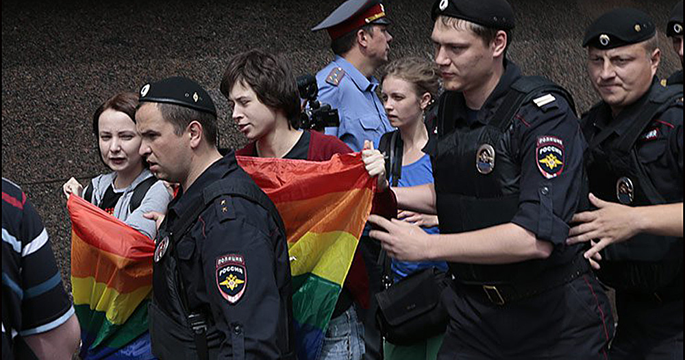 Russian LGBT+ Centre raided by officers