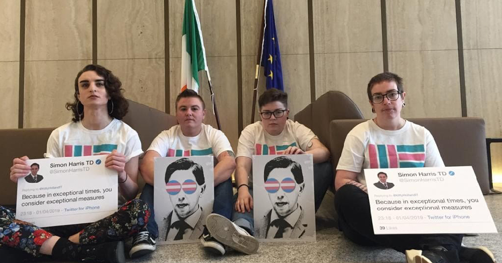 Transgender Healthcare Activists Hold Sit In At Department Of Health