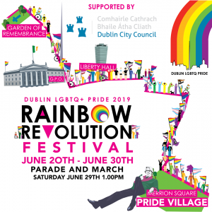 r the Dublin Pride festival featuring animated images of the city