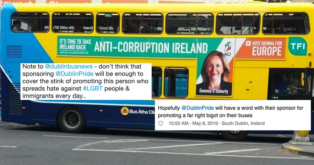 Dublin Bus Gemma O'Doherty advertisment