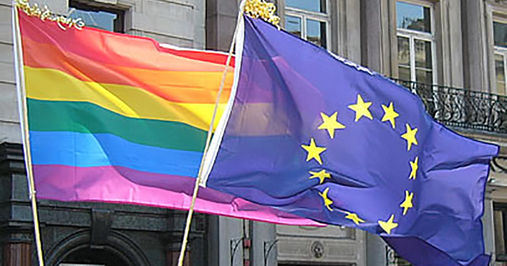Pride and European flags