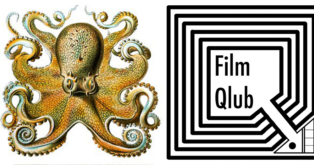 Season 9 logo of octopus on left hand side and Film qlub logo on right hand side
