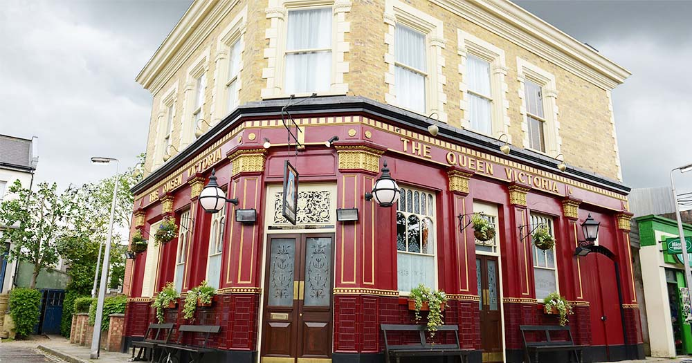 Exterior of The Queen Vic pub from the TV soap Eastenders