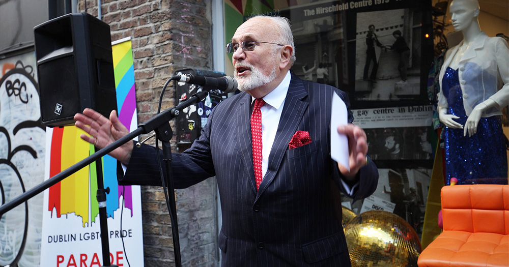Hirschfeld Centre plaque unveiled by Senator David Norris and Dublin Lord Mayor at ceremony yesterday