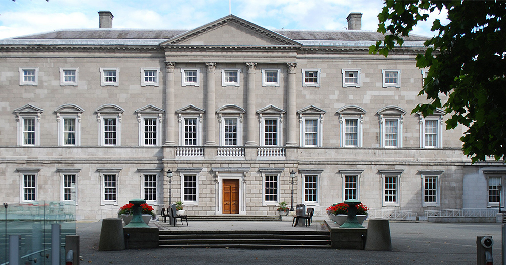 The exterior of Leinster House