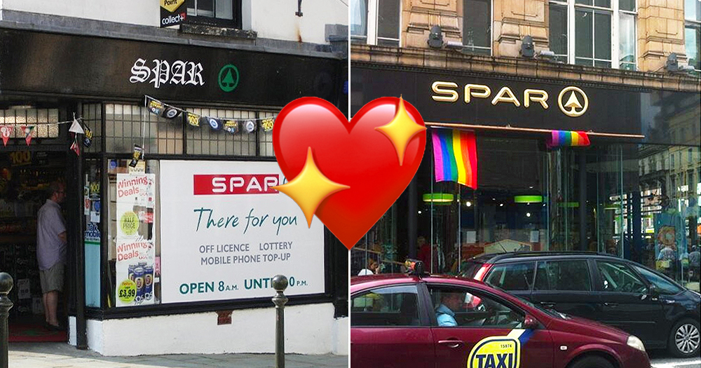 A split screen of Goth Spar and Gay Spar