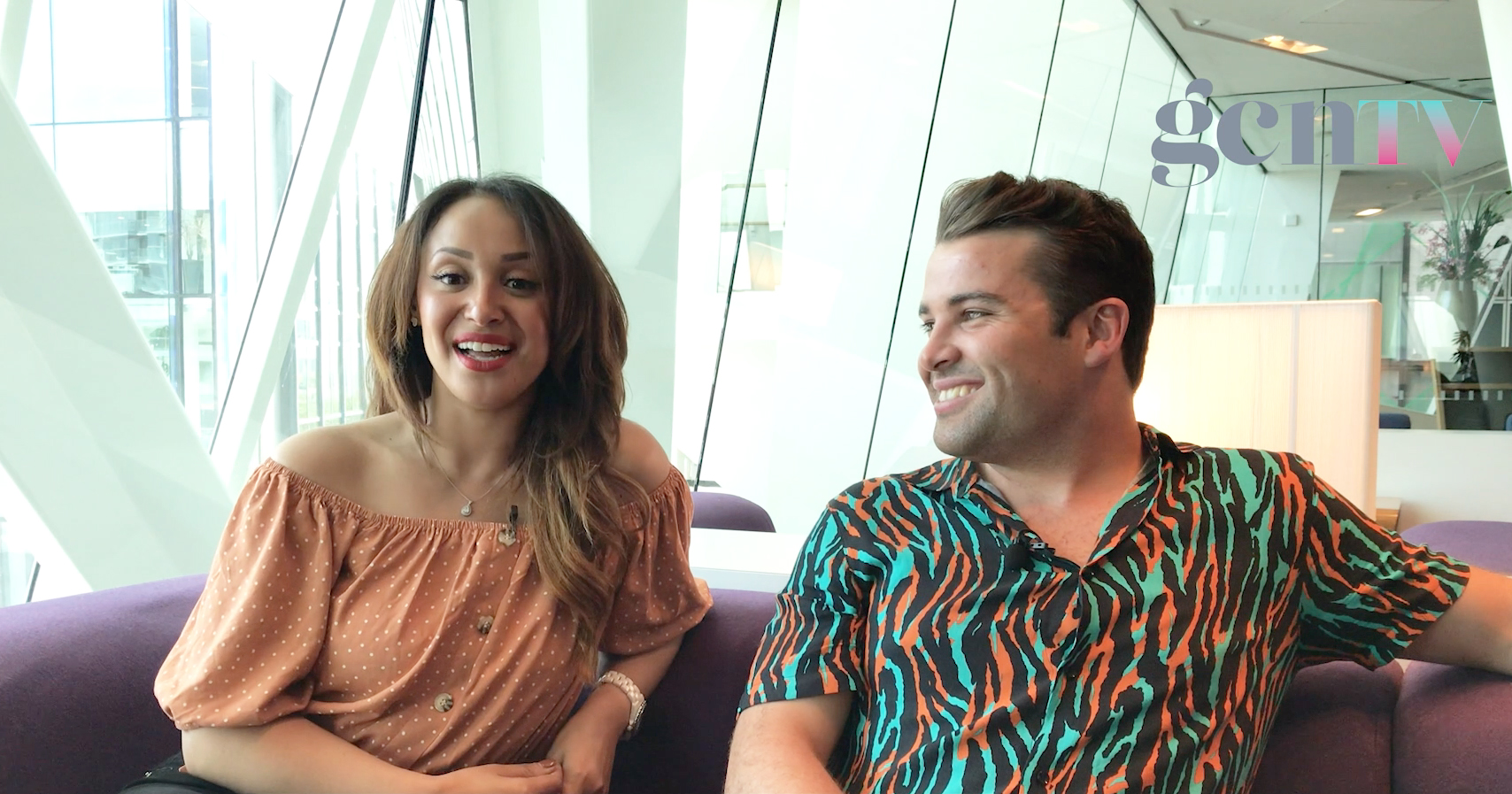 Joe McElderry and Amelle Berrabah stars from Club Tropicana