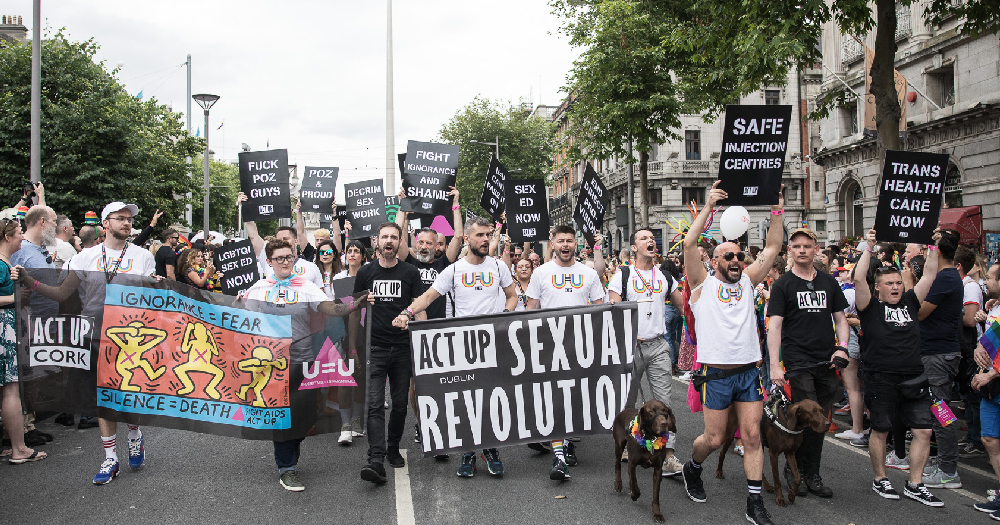 ACT UP Dublin at Dublin Pride Parade