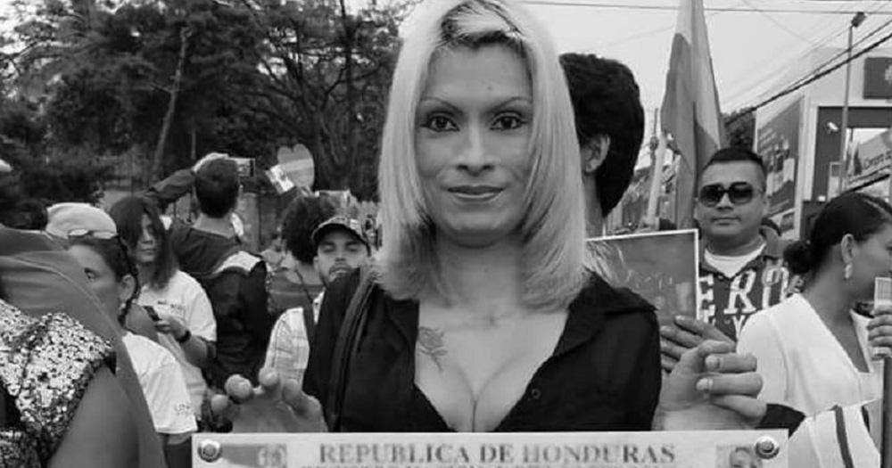 Black and white photo of Bessy Ferrera, trans woman and human rights defender who was killed in Honduras.