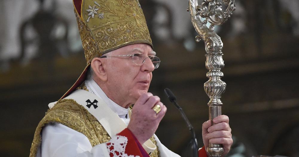 Archbishop of Kraków, Marek Jędraszewski wearing ceremonial clothing
