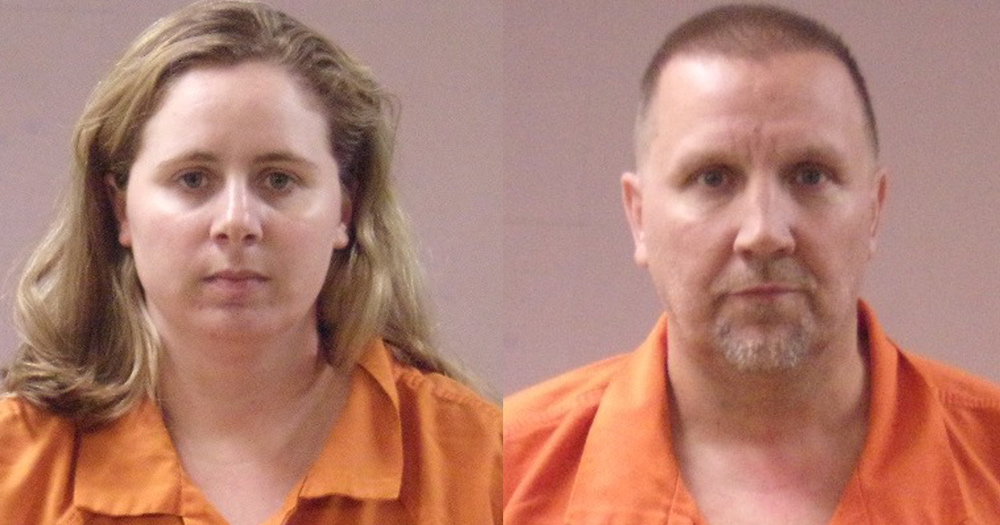 Mugshots of Gary and Meghan Wiggins, couple indicted on human trafficking charges after gay conversion therapy camp raid.