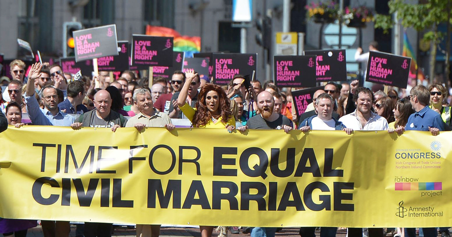 Demonstration for Equal Marriage in Northern Ireland