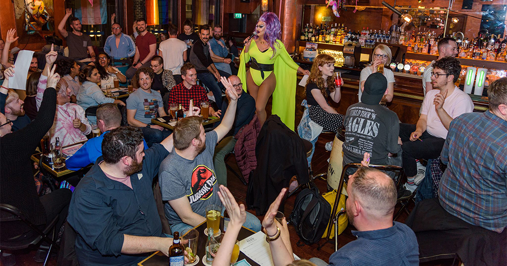 My Big Fat Gay Pub Quiz with a drag queen hosting an event in a pub
