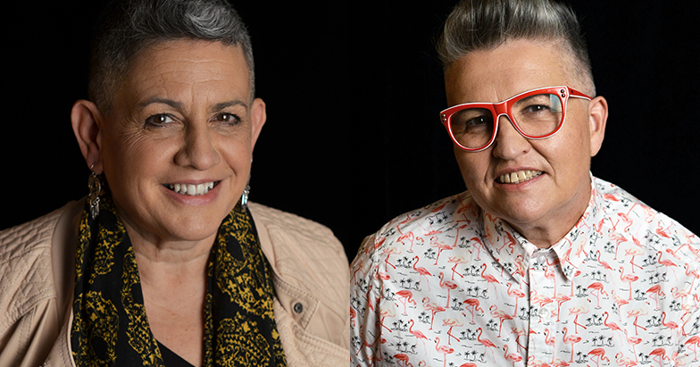 QueerBee creators Jac Nunns and Angie West