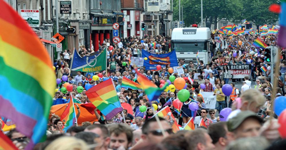 Sligo Pride comeback People marching for Pride Parade