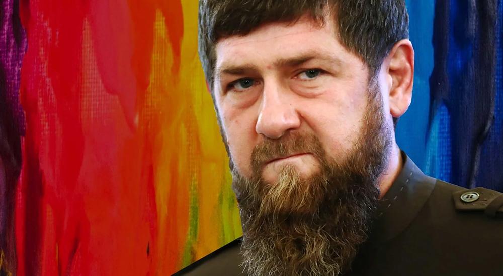 Ramzan Kadyrov against rainbow flag