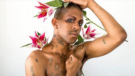 Rapper and performance artist Michael David Quattlebaum Jr, or 'Mykki Blanco' onstage
