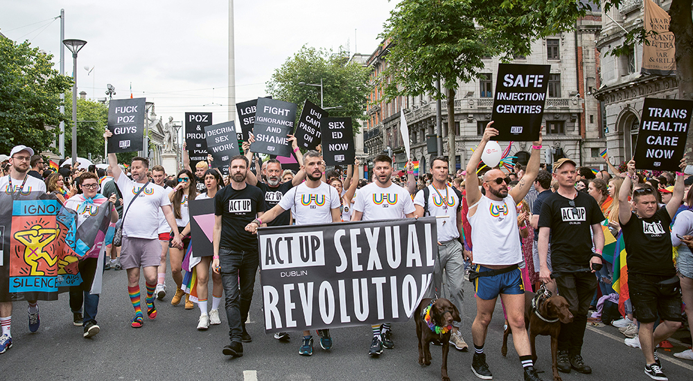 ACT UP Dublin demonstrating for PrEP programme