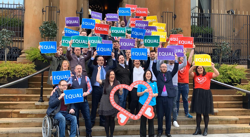 Belfast campiagners equal marriage