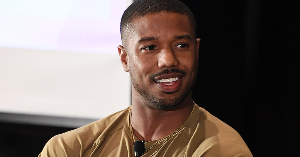 Michael B. Jordan smiling at an interview, one of the celebrity allies in 2019