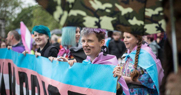 Ollie Bell at Trans Pride Dublin 2019