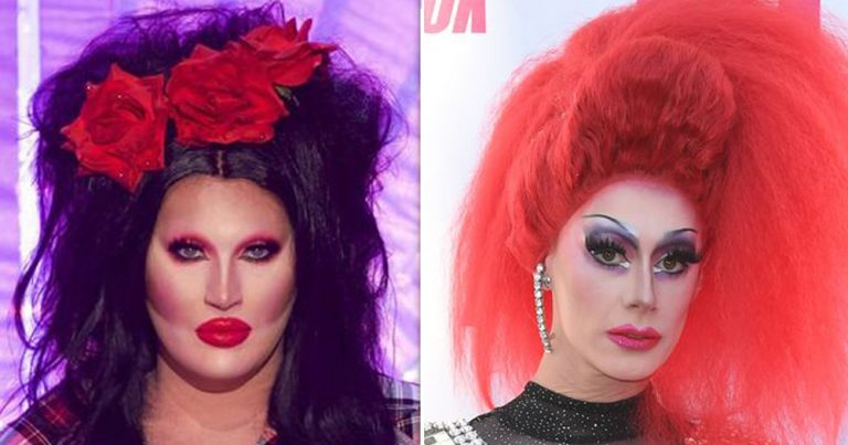 Drag queens The Vivienne and Divina de Campo side by side