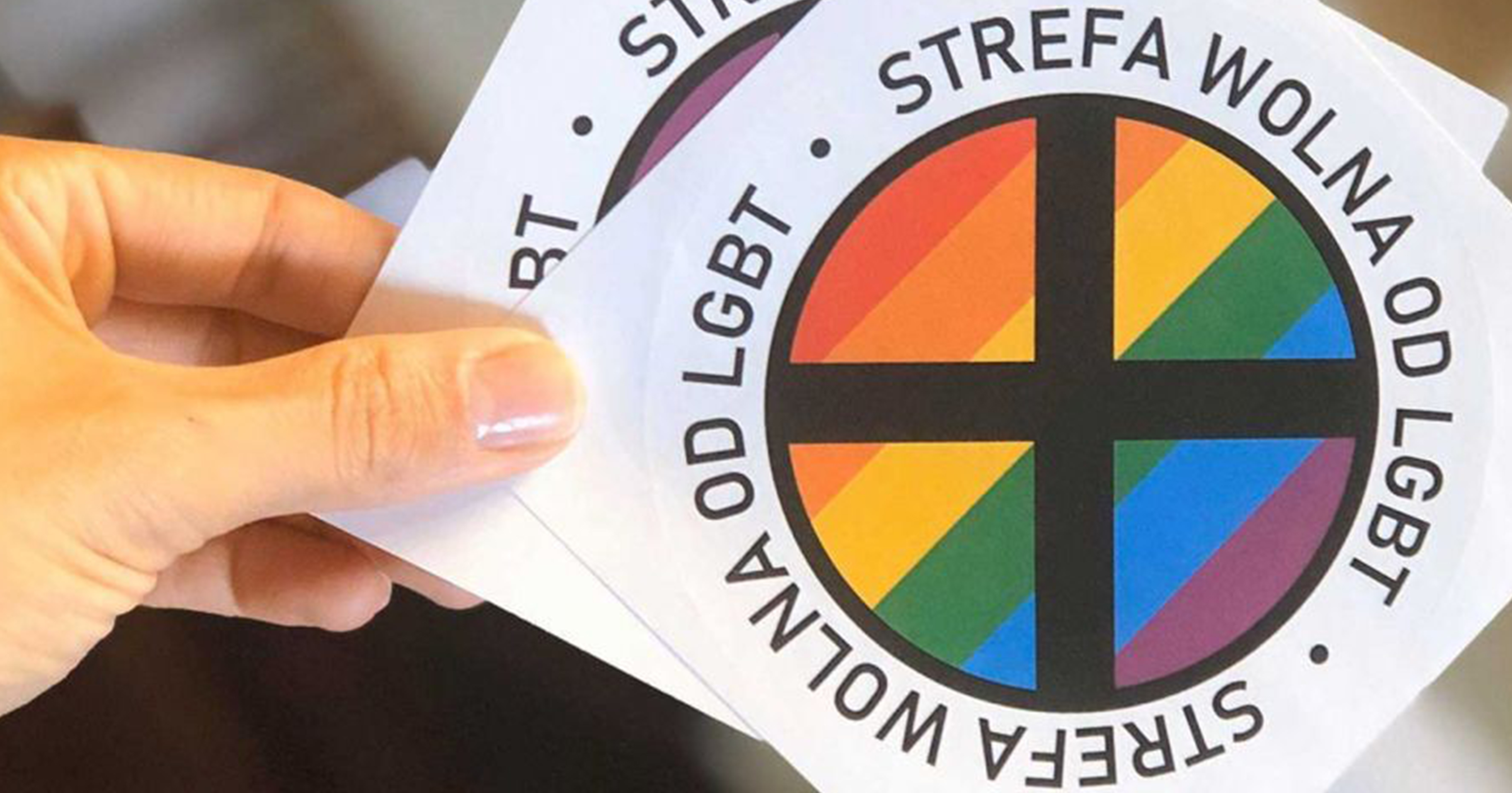 Polish anti-LGBT+ stickers