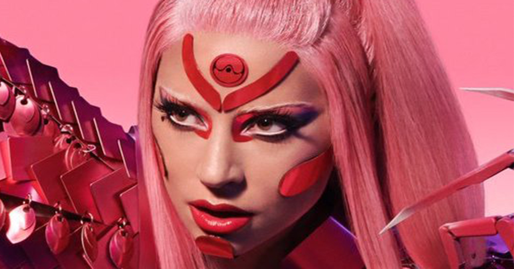 Lady Gaga wearing a hot pink futuristic look as promo for new song 'Stupid Love'